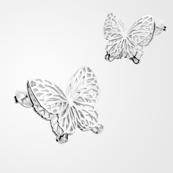 Wings Of Summer, stud earrings, big