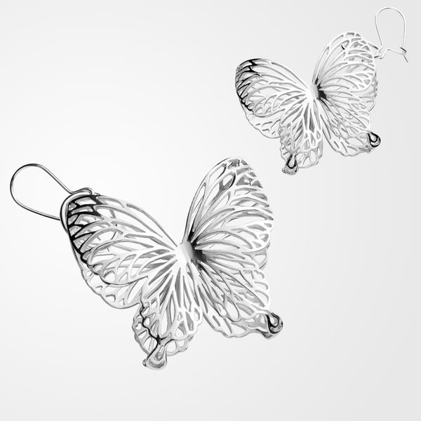 Wings Of Summer, dangle earrings, big